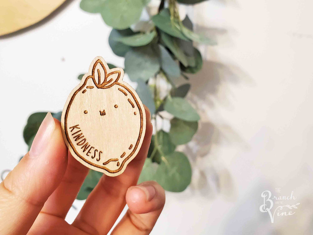 KINDNESS - Wood Laser Cut Keychain | or | Magnet