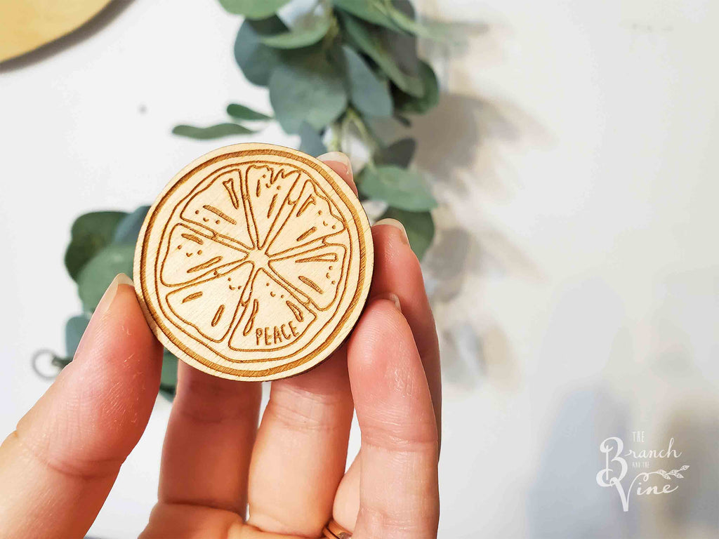 PEACE - Wood Laser Cut Keychain | or | Magnet