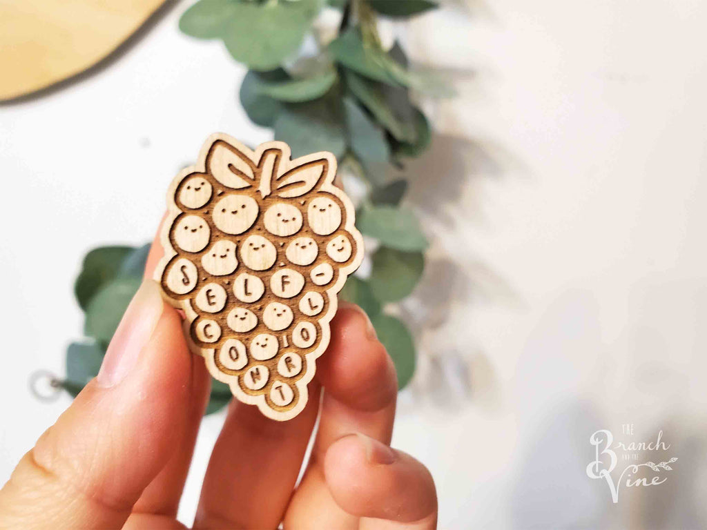 SELF-CONTROL - Wood Laser Cut Keychain | or | Magnet