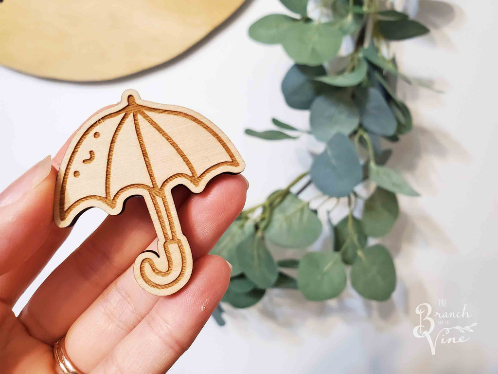 UMBRELLA - Wood Keychain or Magnet
