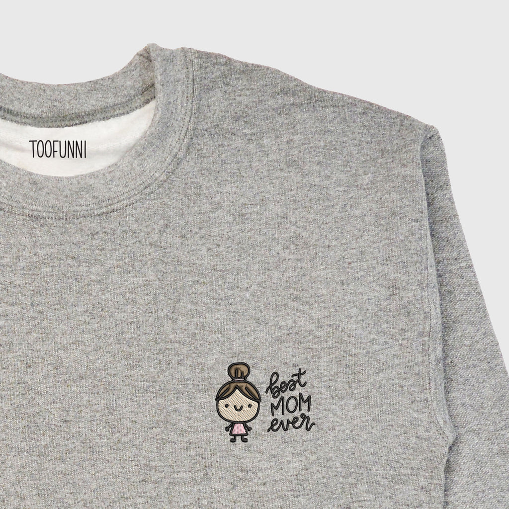 MOM - Crew Sweatshirt (Choose Hair & Outfit Colour)