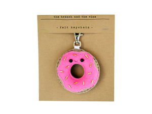 DONUT - PINK - | Keychain | Ornament | or | Magnet |