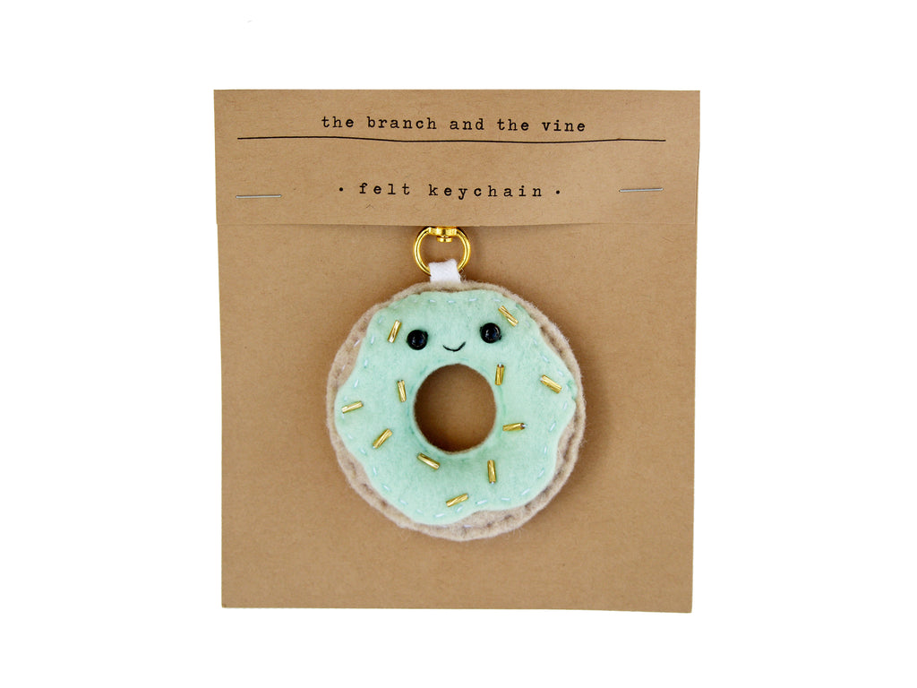 DONUT - BLUE - | Keychain | Ornament | or | Magnet |