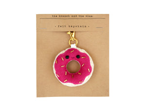 DONUT - FUSCHIA - | Keychain | Ornament | or | Magnet |