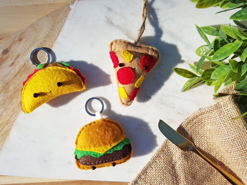 PIZZA - | Keychain | Ornament | or | Magnet |
