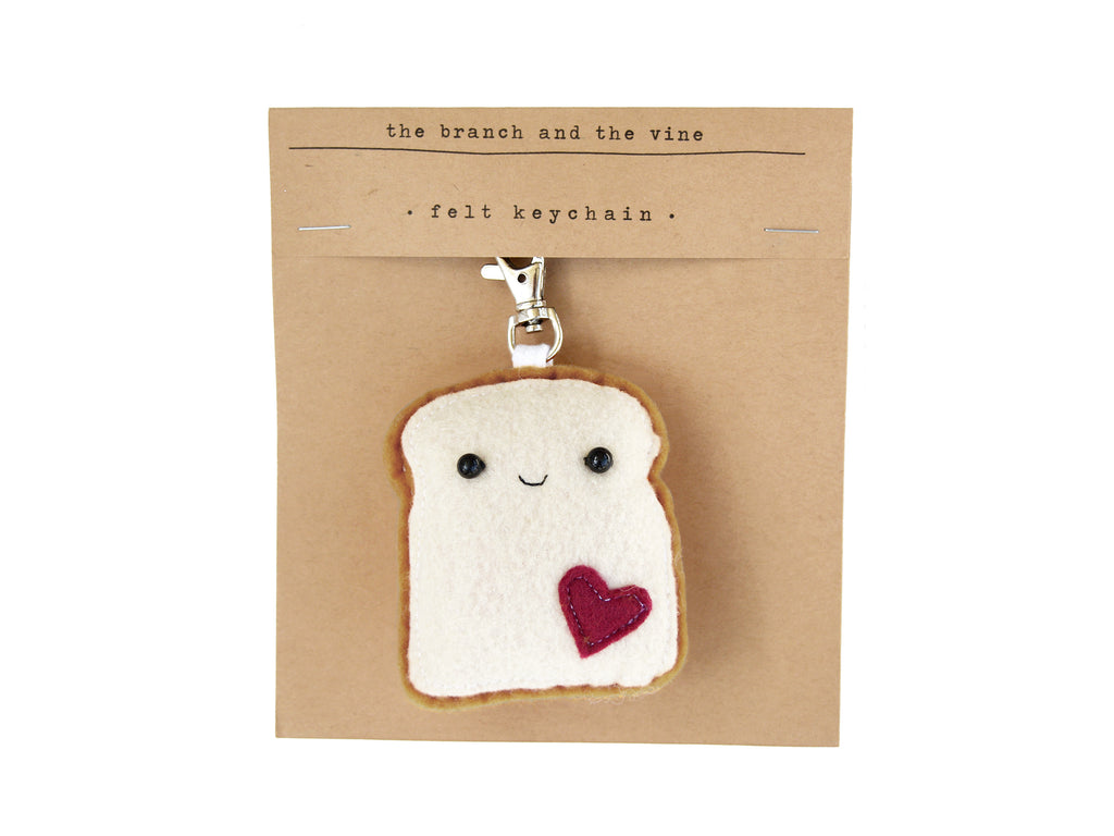 TOAST - Blue/Pink | Keychain | Ornament | or | Magnet |