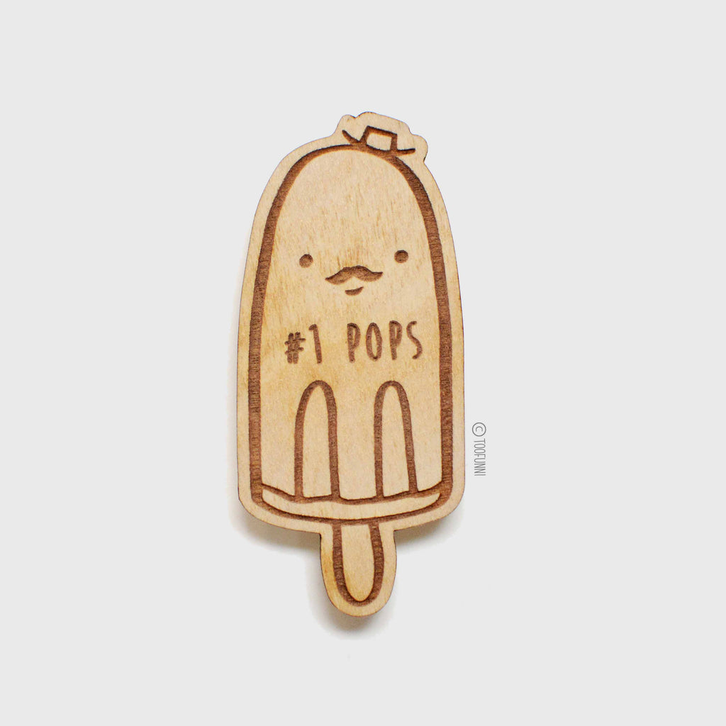 POPS - Wood Keychain or Magnet