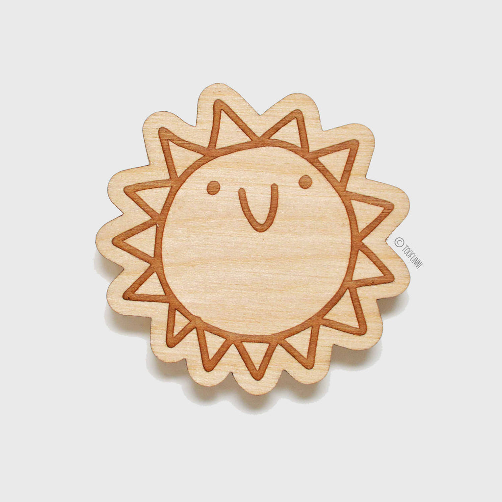 SUN - Wood Keychain or Magnet
