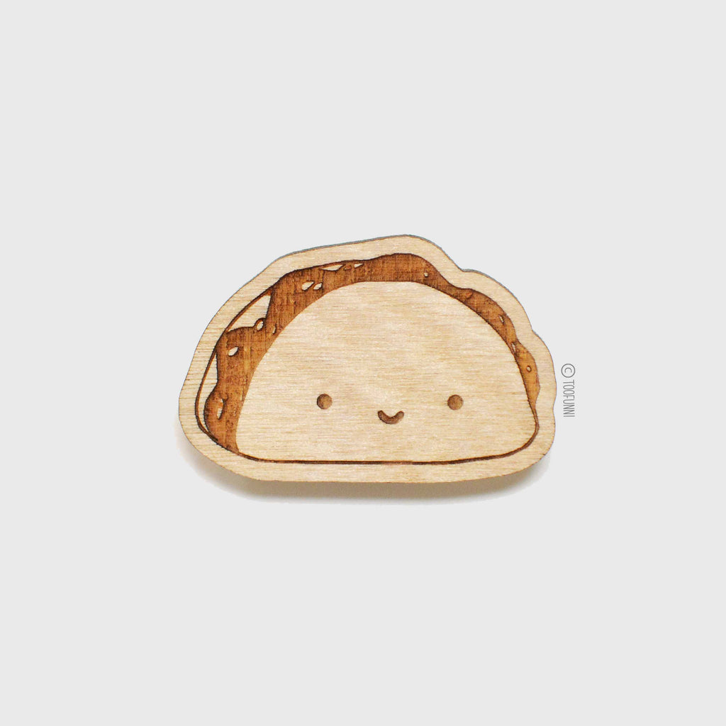 TACO - Wood Keychain or Magnet