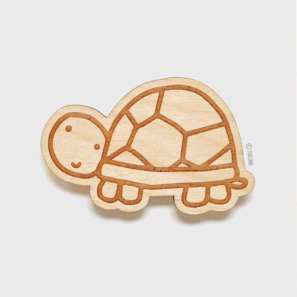 TURTLE - Wood Keychain or Magnet