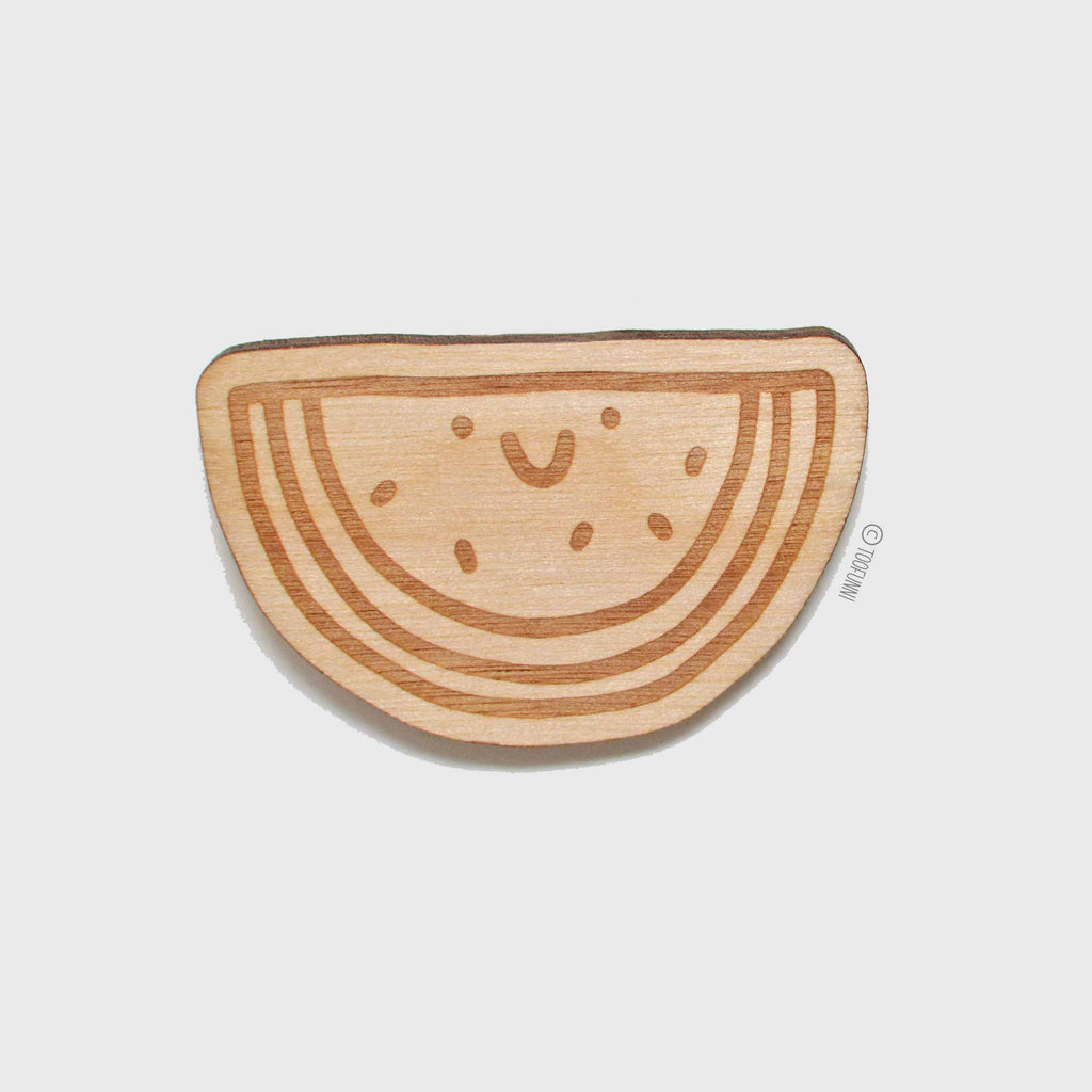 WATERMELON - Wood Keychain or Magnet