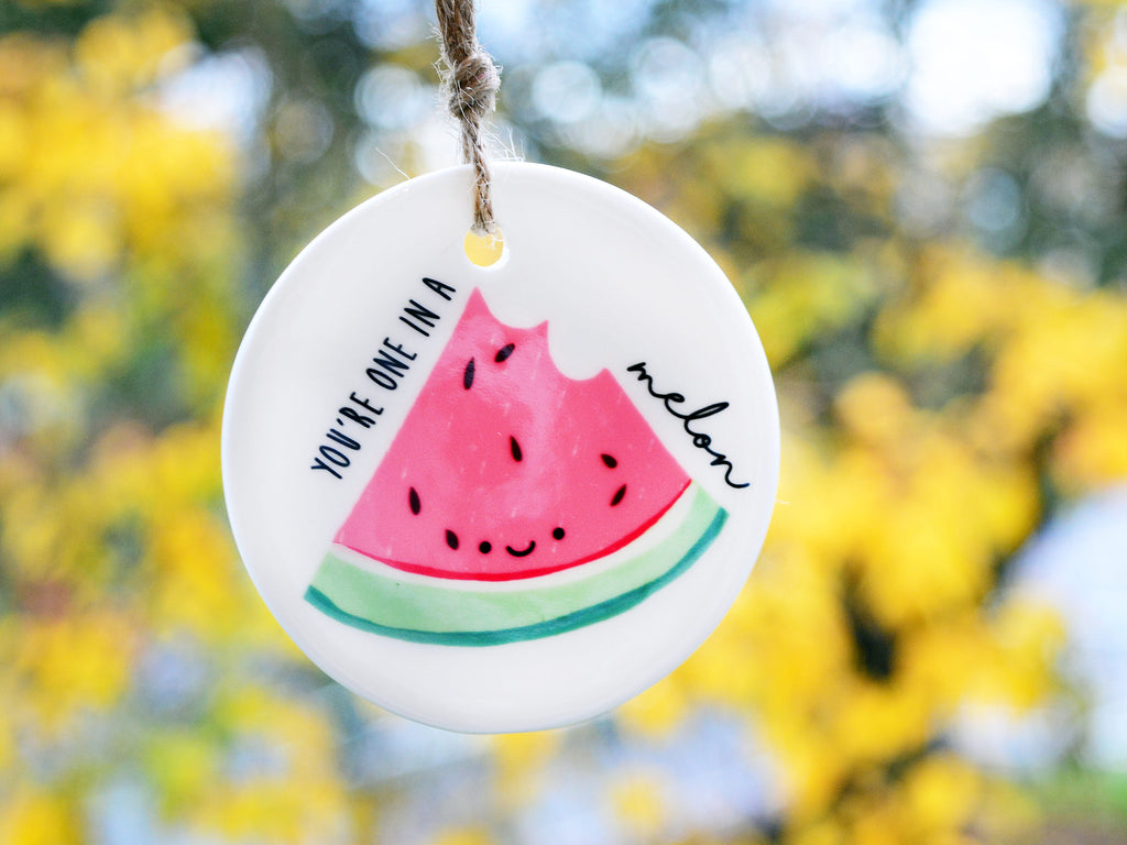 ONE in a MELON - Ceramic Ornament