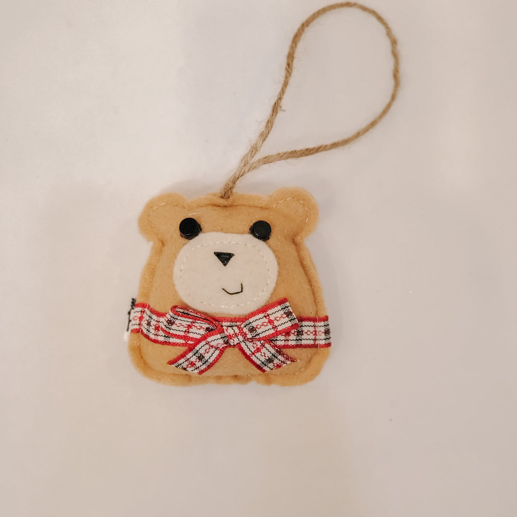 BEAR WITH BOW - Ornament