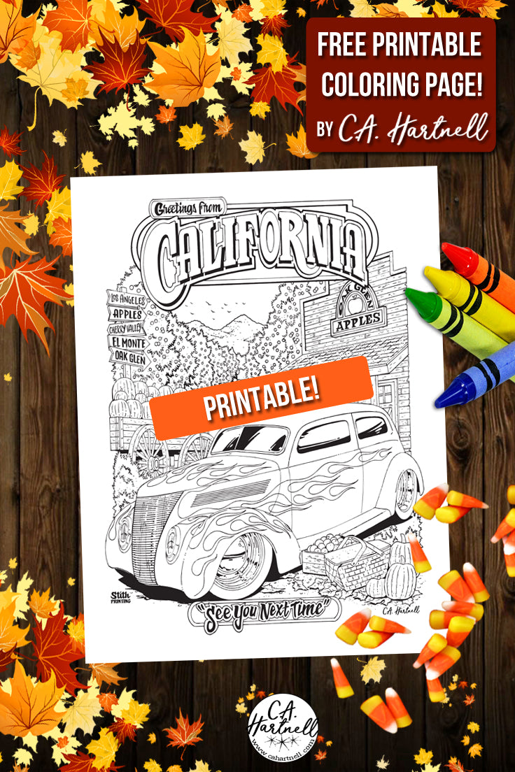 Free Printable Coloring Page For Fall