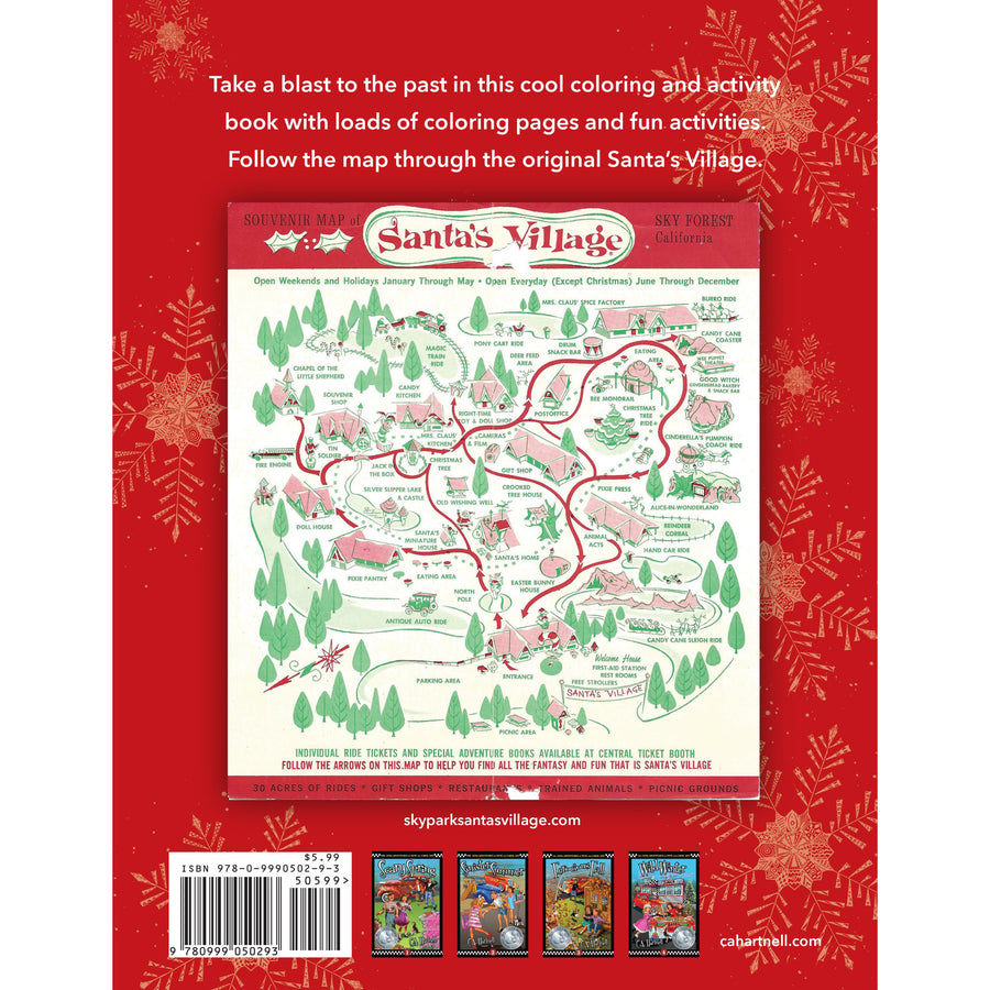 Skypark at Santa's Village Vintage Activity and Coloring Book by C.A. Hartnell