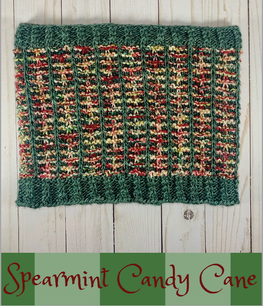 2020 Holly Days: Spearmint Candy Cane Cowl