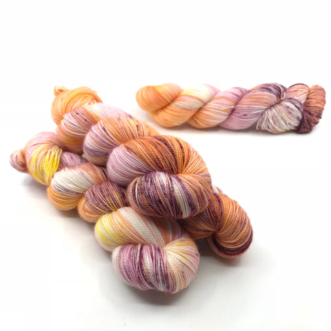 Push Pop, fingering weight hand dyed yarn OOAK