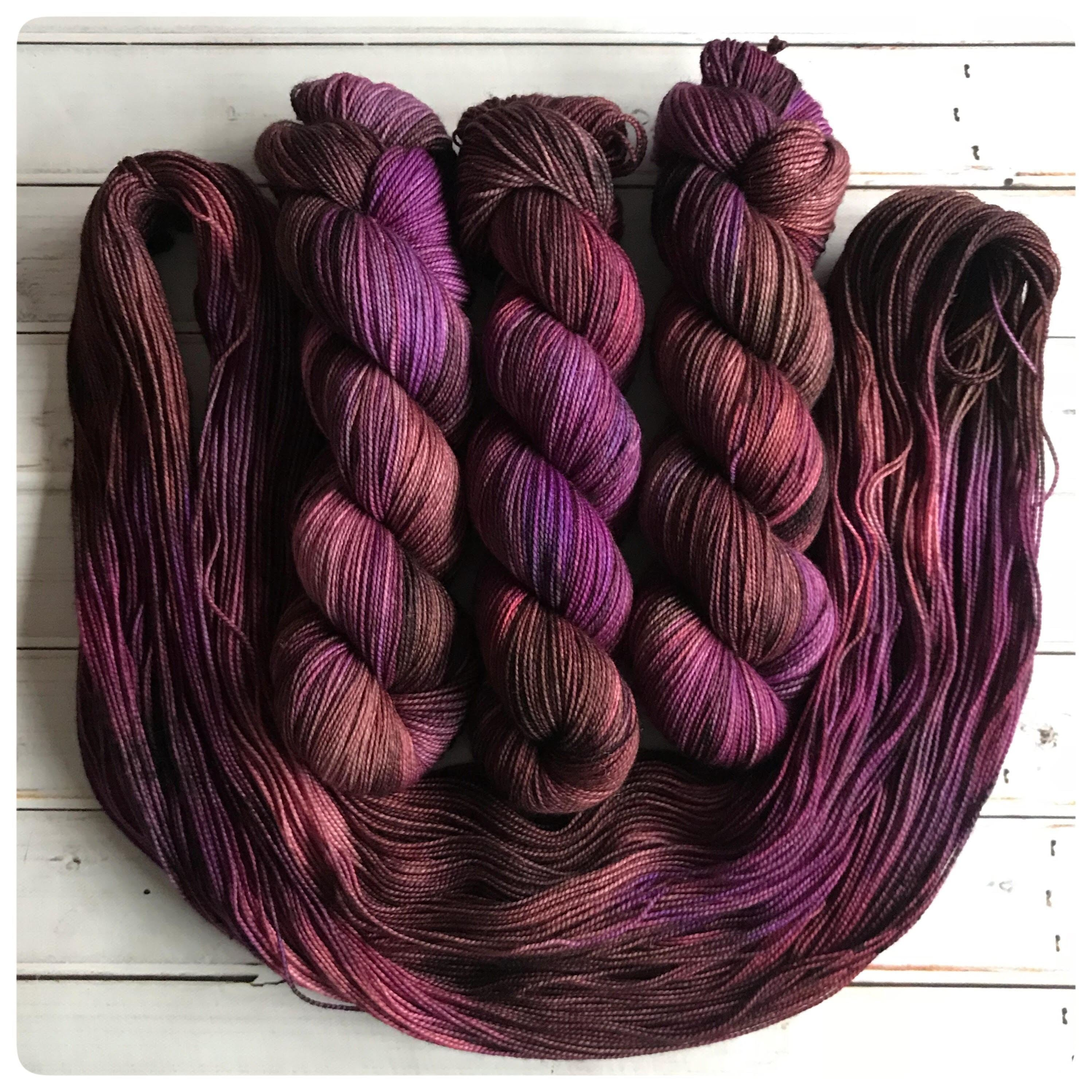 OOAK1, fingering-weight hand dyed yarn