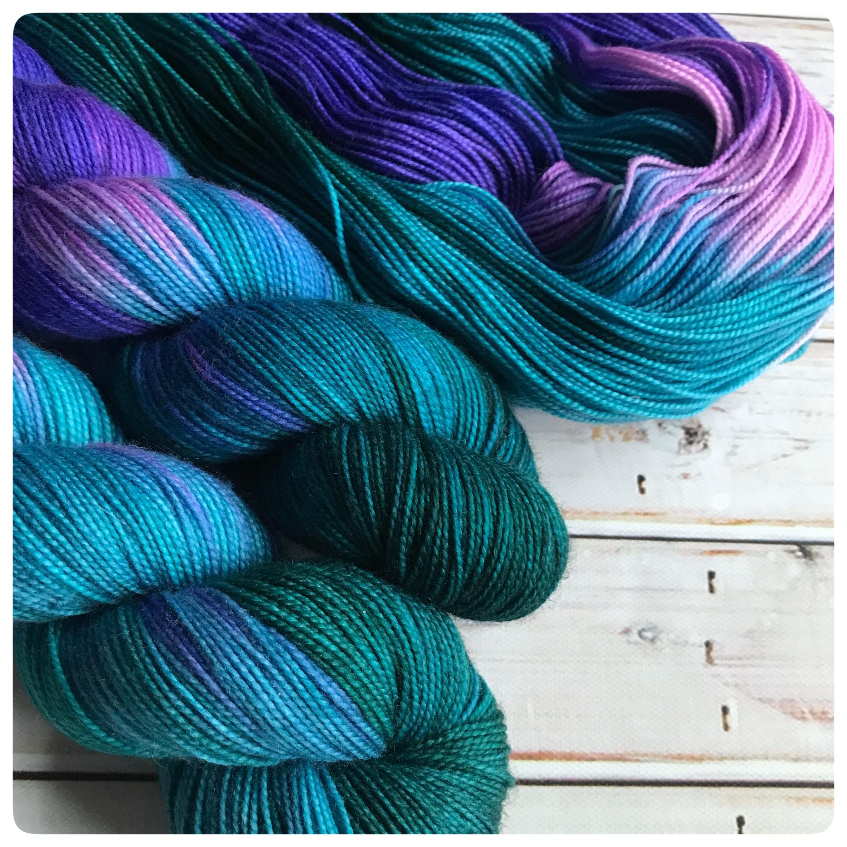 Fingering Naughty Narwhal, hand dyed yarn