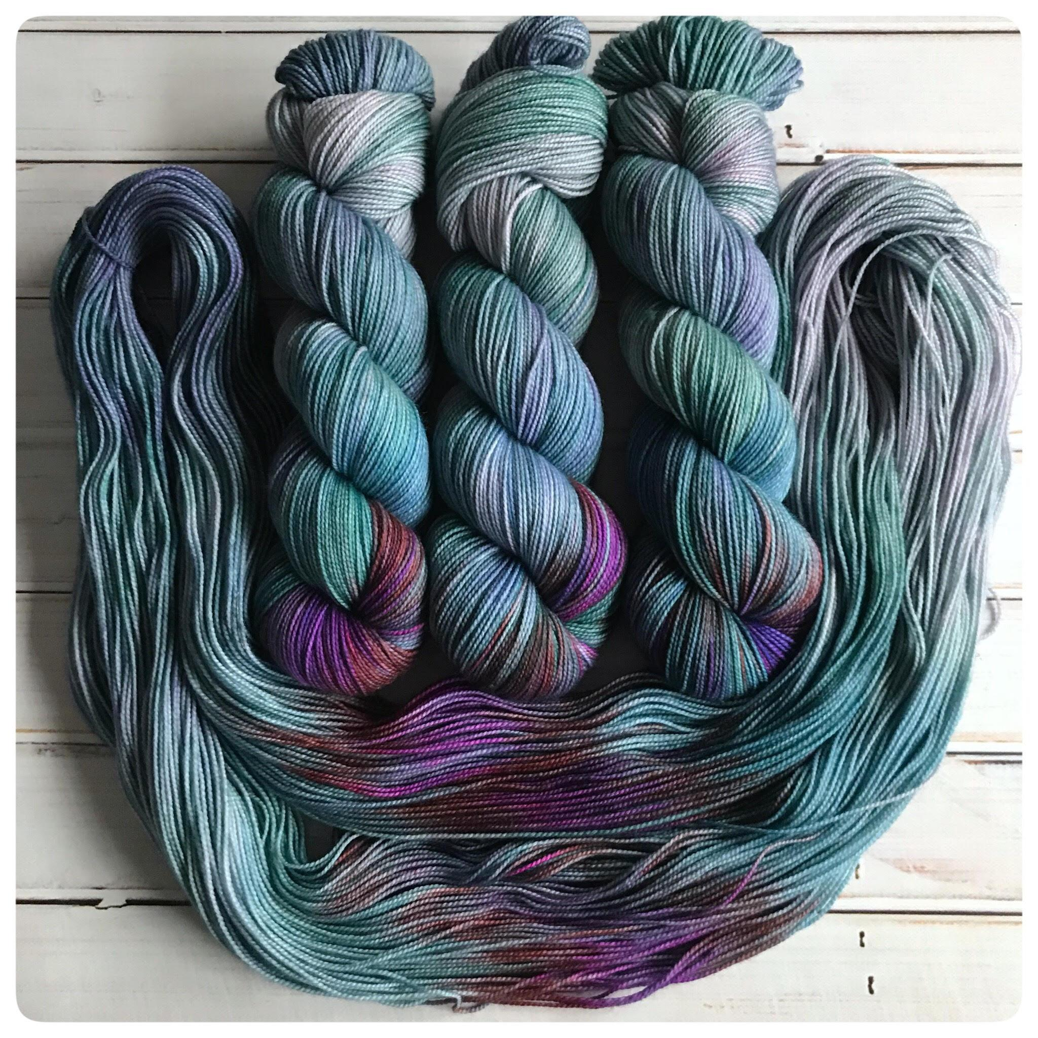 OOAK2, fingering-weight hand dyed yarn