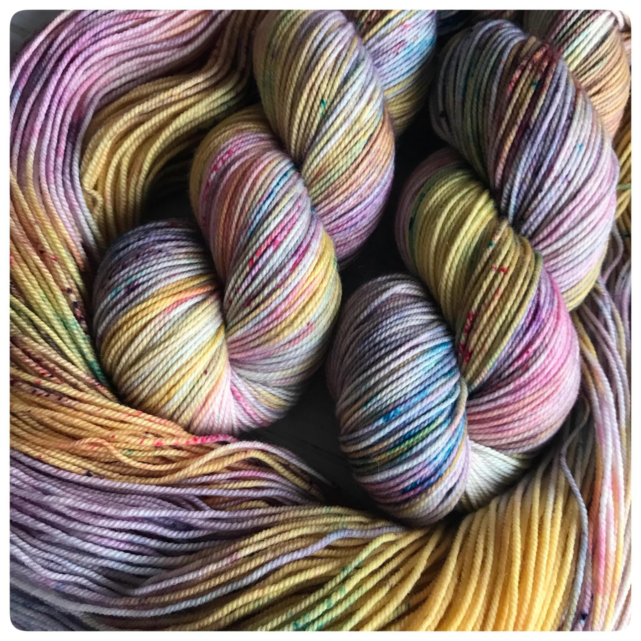 Bunny Hop, sport-weight hand dyed yarn