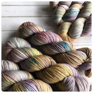Bunny Hop LIGHT, sport-weight hand dyed yarn