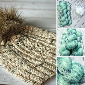 KIT: Charlotte Cap by Justina McBride in Deep Freeze Colorway