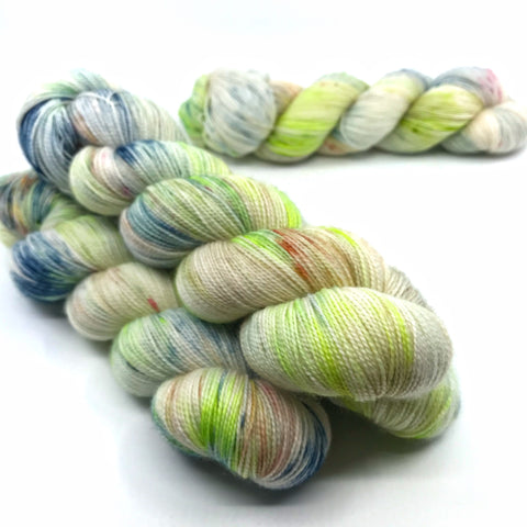 Hobgoblin , OOAK fingering weight hand dyed yarn