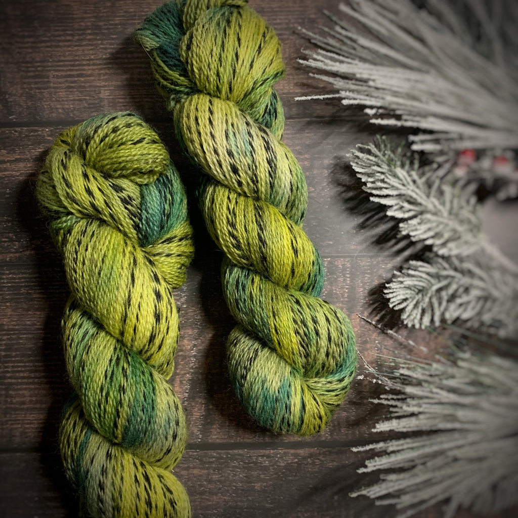 Helix OOAK 'The Greens', NON Superwash Fingering Weight