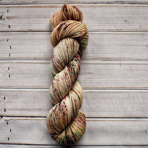 Gingerbread Man, DK weight hand dyed yarn