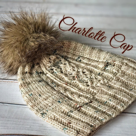 KIT: Charlotte Cap by Justina McBride in Porch Swing Colorway
