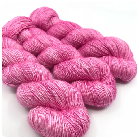 Powder Puff Pink, Sexy Singles Hand Dyed Yarn
