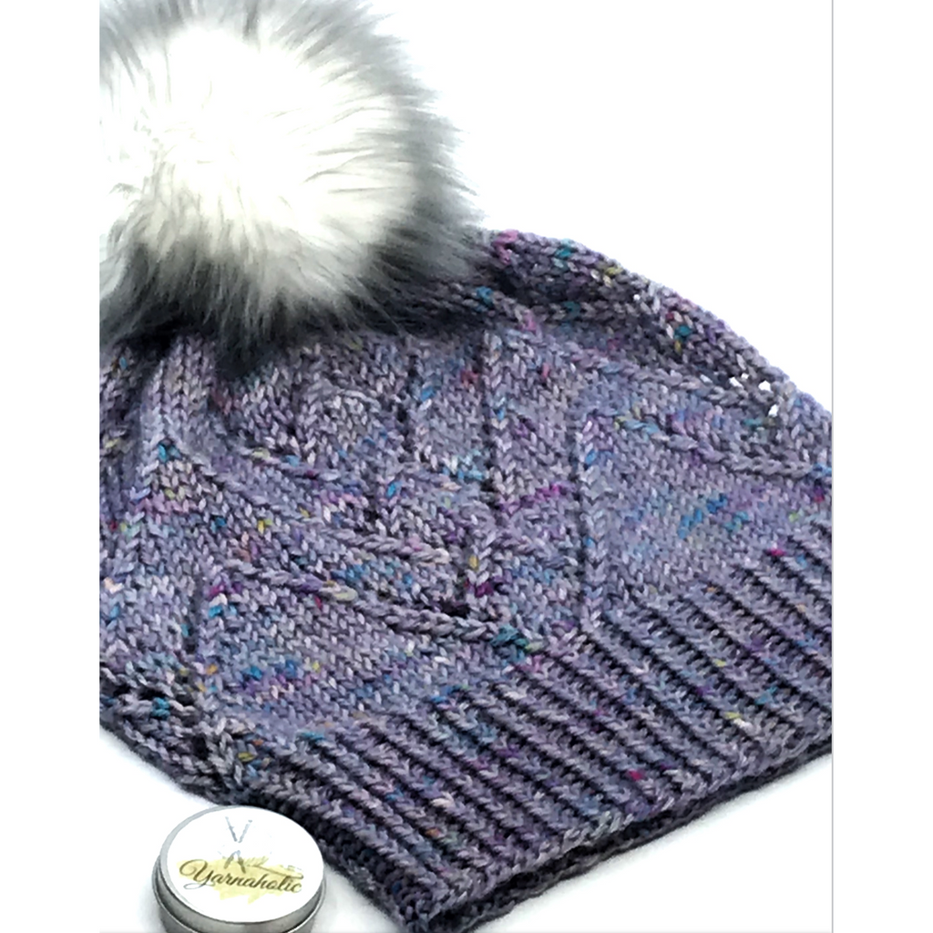 Peaks & Valleys Hat Pattern: Digital Download