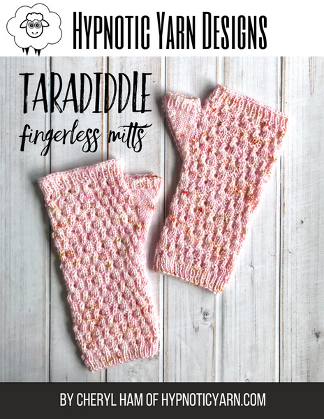 TaraDiddle Fingerless Mitts Pattern: Digital Download
