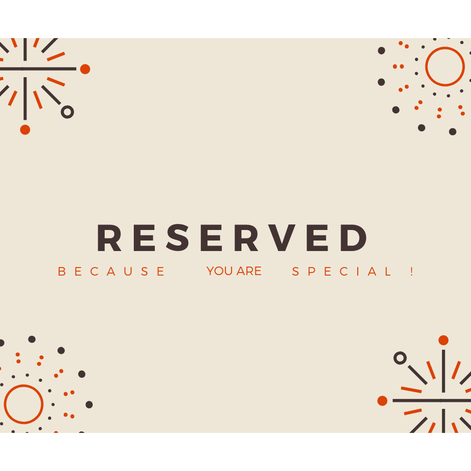 Reserved for Connie