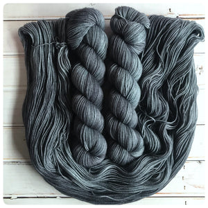 Dark & Stormy Night,  fingering-weight hand dyed yarn