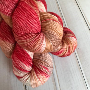 Caramel Apple, hand dyed yarn