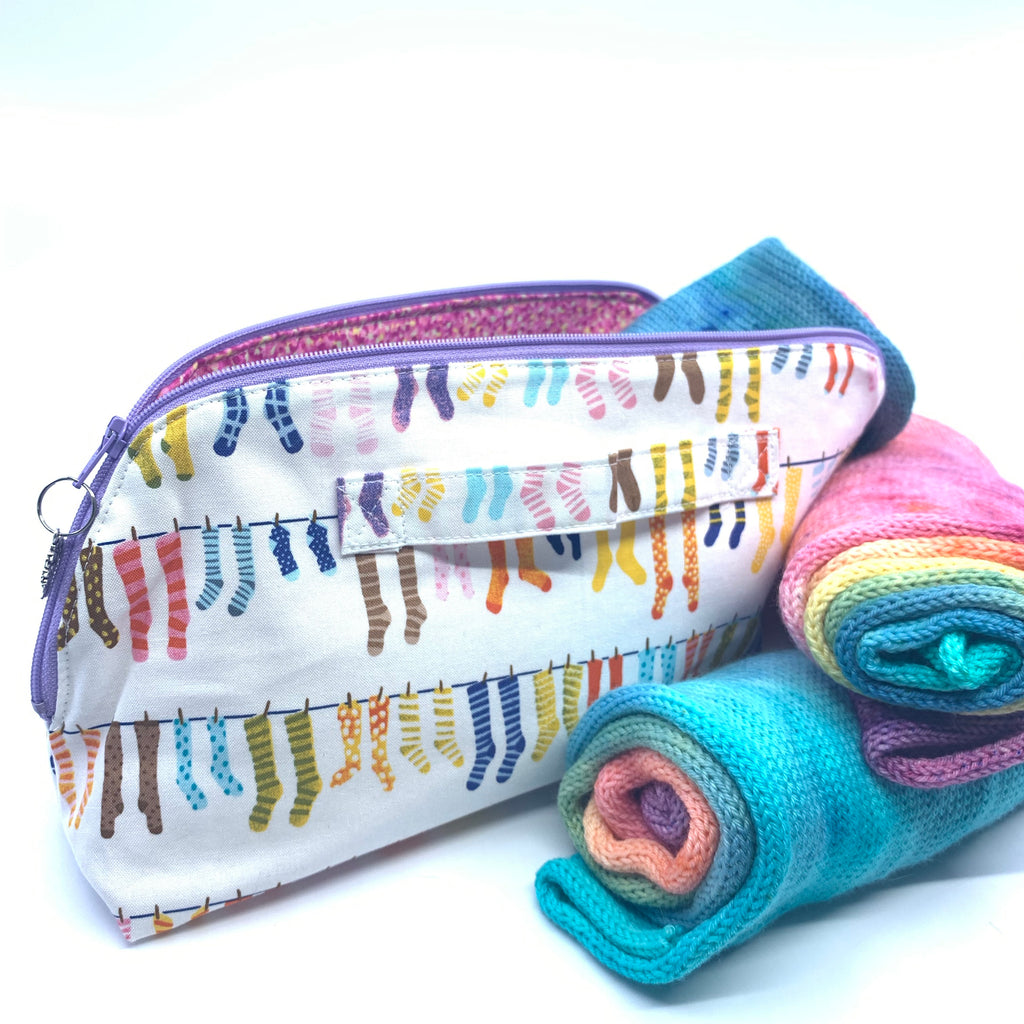 Rainbow Sock Kit,  Project Bag and Sock Blank