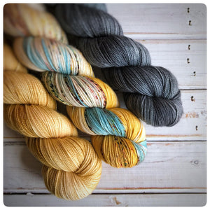 Goldilocks, fingering-weight hand dyed yarn