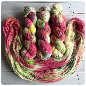 Be A Unicorn, fingering-weight hand dyed yarn