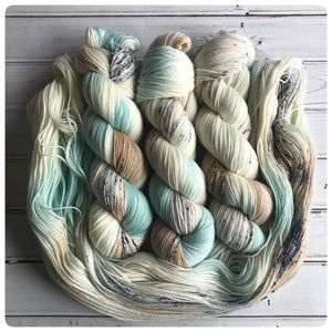 Hatchling, fingering-weight hand dyed yarn
