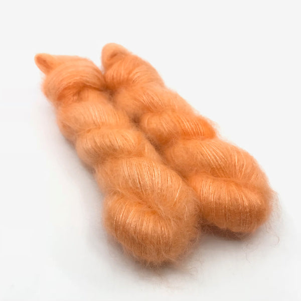 Mohair, Orange Caterpillar OOAK