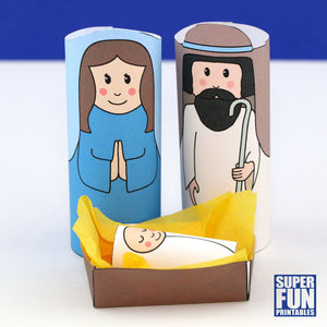 Printable nativity scene