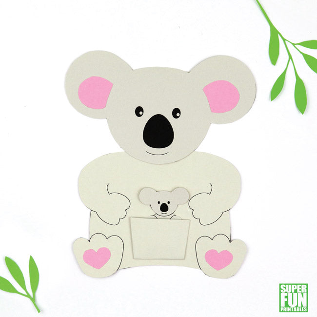 picture regarding Baby Printables identify Koala mom and kid card