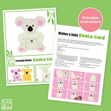 Koala mother and baby card