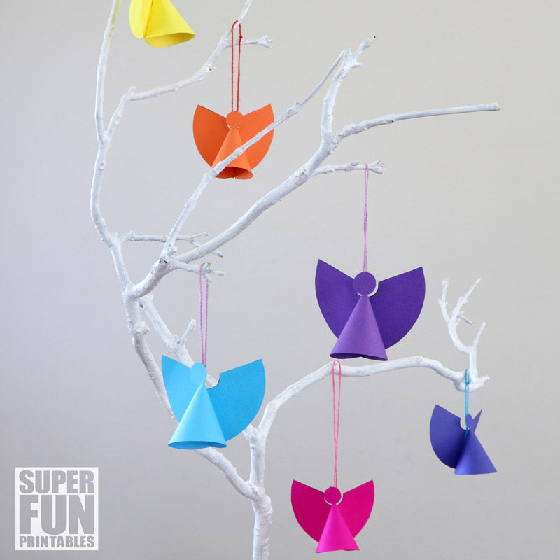 Christmas Ornament Angels From Office Supplies: Mini Paper Angel Ornaments