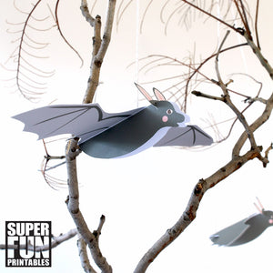 Flying paper bat