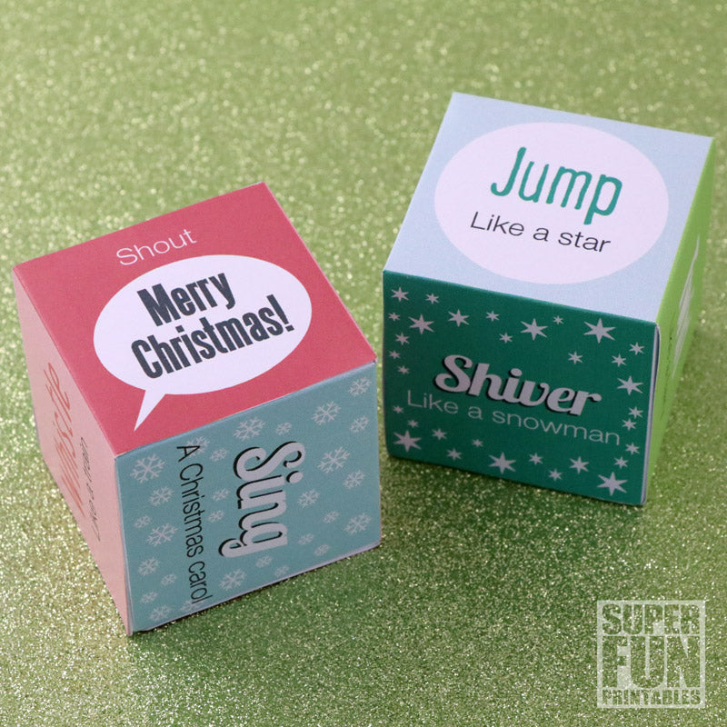 Christmas noise and action dice game