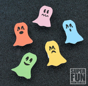 Ghost finger puppets