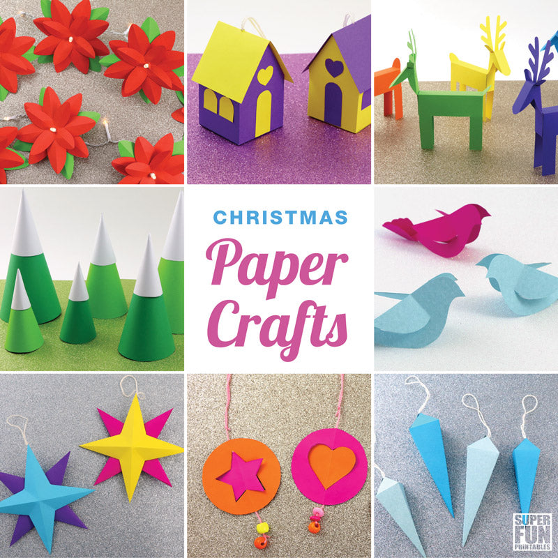 christmas paper crafts ebook  u2013 super fun printables